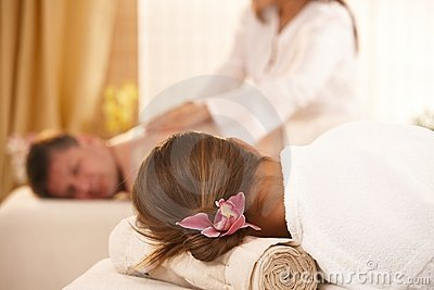 Conceptual image of getting massage