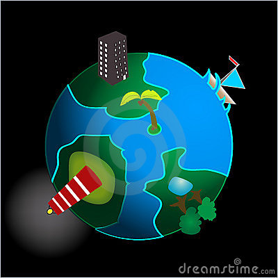 Conceptual image of the planet earth