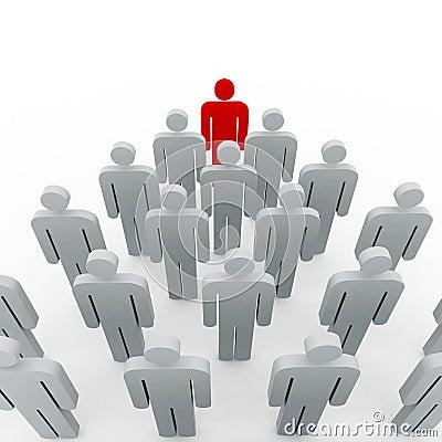 Conceptual image of teamwork