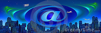 Conceptual internet/travel header/banner