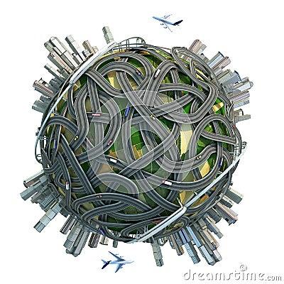 Conceptual minature globe