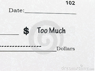Conceptual photo of Check with Too Much