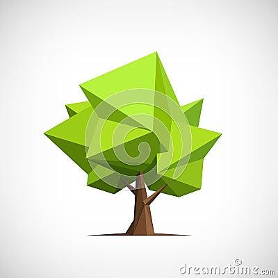 Free Conceptual Polygonal Tree. Abstract Vector Stock Photo - 54209800