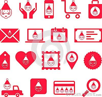 Conceptual Santa Claus icons