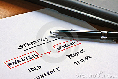 Conceptual scheme for a business strategy