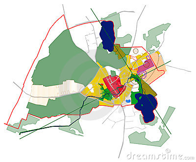Conceptual scheme, master plan, city map