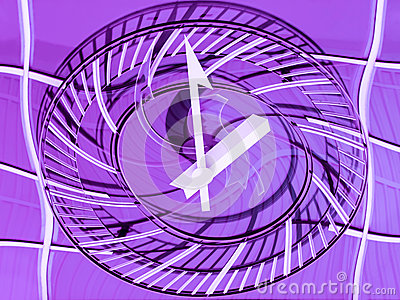Conceptual view of a railway station clock – Time goes by quickly