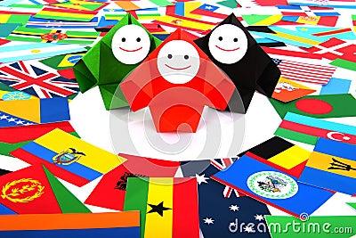 Conceptueel beeld van internationale relaties