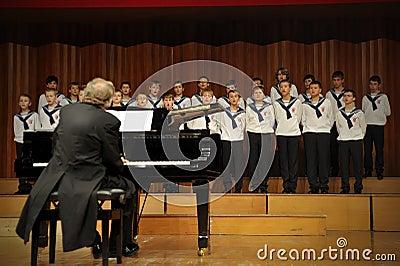 Concert of Austrian St,Florian Boy s Choir Editorial Photography