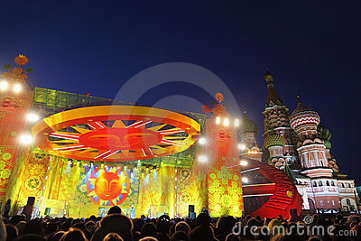Concert for celebration of Shrovetide Editorial Stock Photo