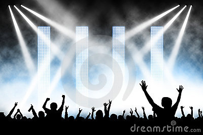 Concert Crowd Stock Photography - Image: 13266362