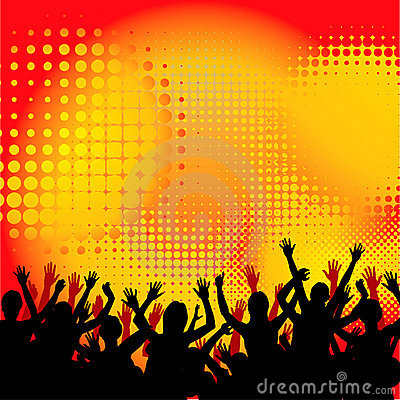 Concert Crowd Background
