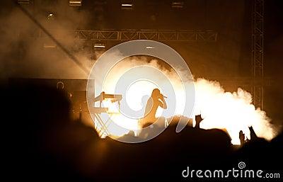Concert de Prodigy Image stock éditorial