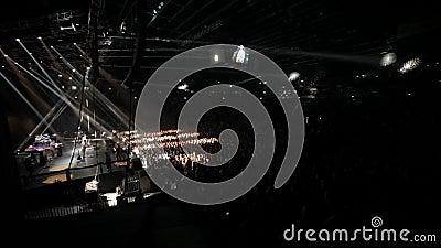 Concert de rendement musical Exposition légère banque de vidéos