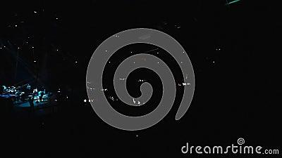 Concert de rendement musical Exposition légère clips vidéos
