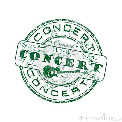 Concert green rubber stamp
