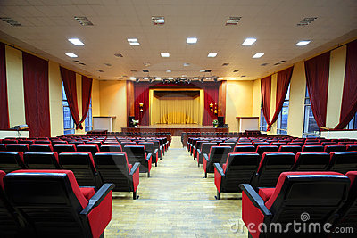 Concert hall and empty stage