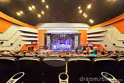 Concert hall, view on stage Editorial Photo