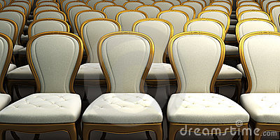 Concert hall with white seat