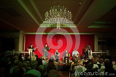 Concert of irish band danu Editorial Photo
