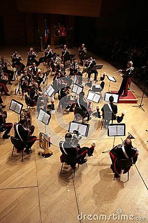 Concert, Italian army fanfare Editorial Stock Image