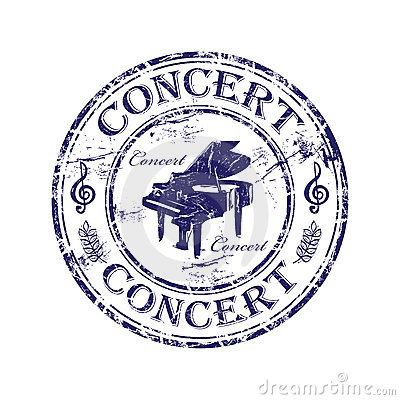 Concert rubber stamp