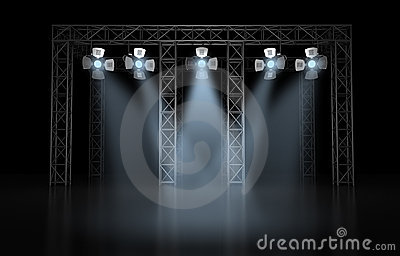Concert scene lighting against a dark background