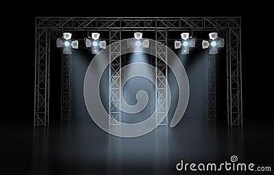 Concert scene lighting against a dark background
