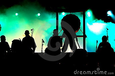 Concert silhouettes