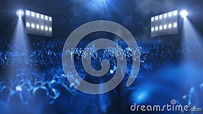 Concert stage 3d light. HD 1080