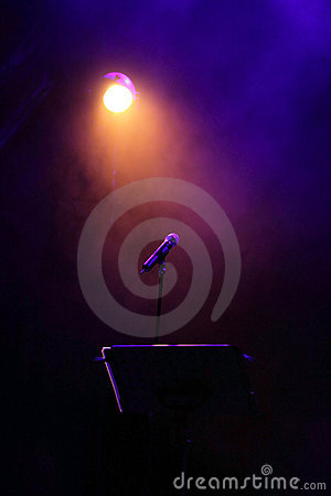 Free Concert Stage With Mic Stock Image - 10023161