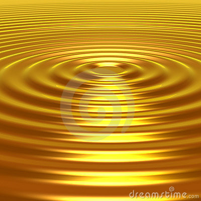 Free Concetric Golden Ripples Royalty Free Stock Photography - 7702737