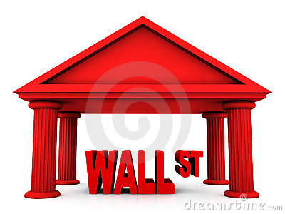 Concetto 3d di Wall Street