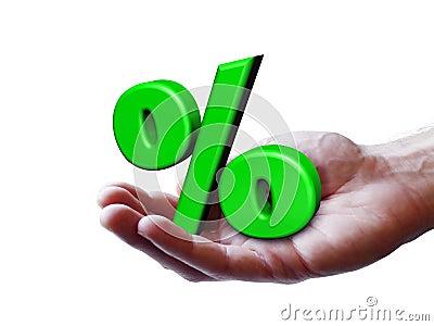 Concetto di percentuale di simbolo di affari