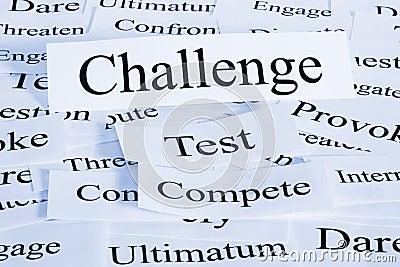 Concetto di sfida