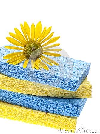 Concetto naturale di pulizie di primavera