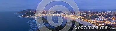 Concha Bay in the city of Donostia, Gipuzkoa