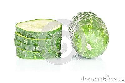 Concombre coupé en tranches
