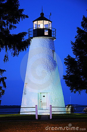 Concord Point Lighthouse At Sunset