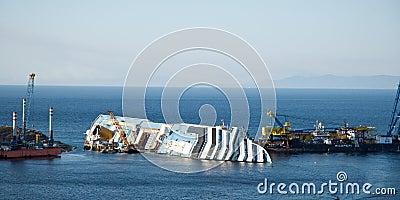 Concordia cruis shipwreck Editorial Image