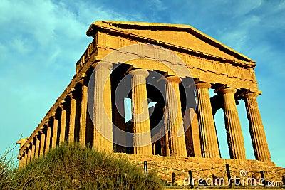 Concordia greek temple ruins. Agrigento, Italy
