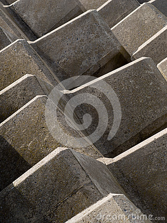 Concrete abstract barrier