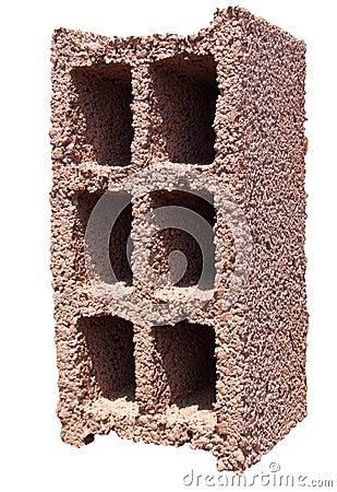 Free Concrete Block - Red Orange Royalty Free Stock Image - 21124696