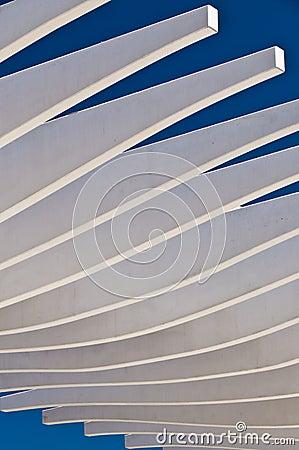Concrete canopy structure