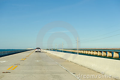 Concrete causeway or bridge