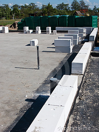 Concrete construction blocks