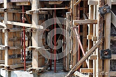 Concrete construction site