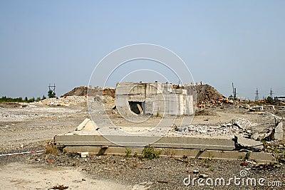 Concrete debris