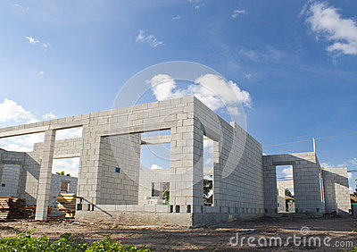 Concrete Home Construction Stock Images Image 31270584