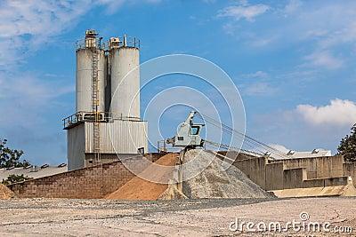 Concrete Mixing Depot Crane